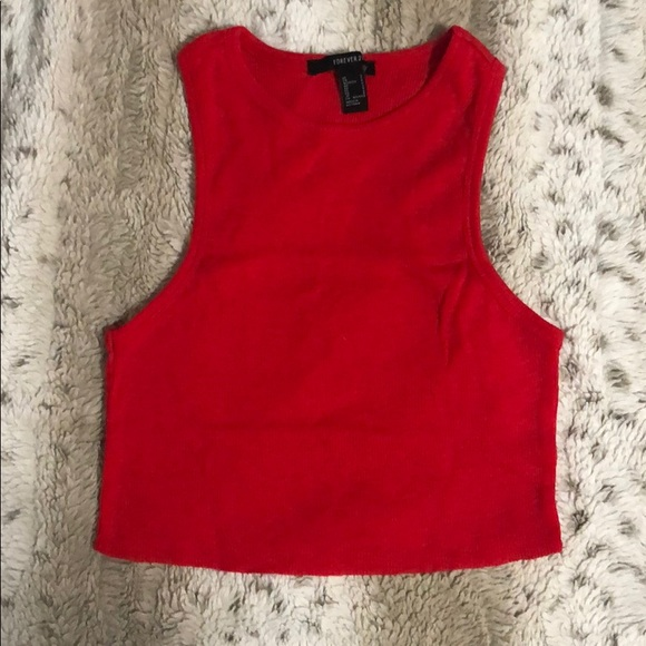 Forever 21 Tops - Crop high neck tank top